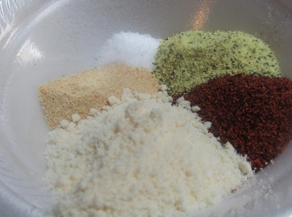 Blend spices in a small bowl then add to a large zip lock bag.