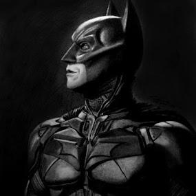TDK by Franky Go - Drawing All Drawing ( dc, gotham, fan art, hero, comic, hollywood, actor, nolan, christian bale, the dark knight, dc comic, batman, dark knight rises, superhero )