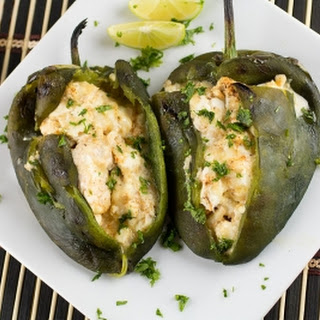 Cream Cheese Stuffed Poblano Peppers.