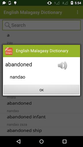 English to Malagasy Dictionary 1.2 screenshots 2