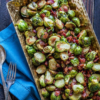 Roasted Brussels Sprouts with Bacon and Balsamic Recipe