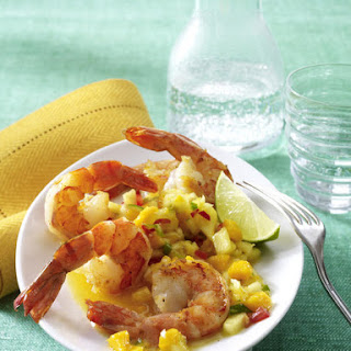 Sautéed Shrimp with Mango Pineapple Salsa