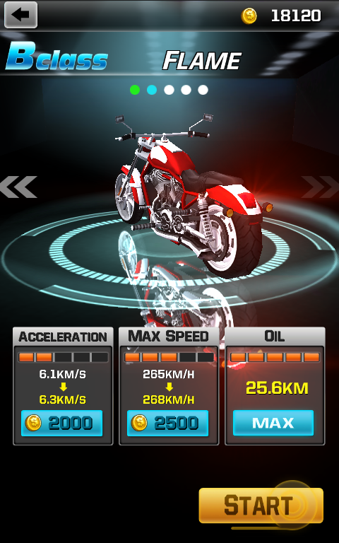 Screenshots of Racing Moto for Android