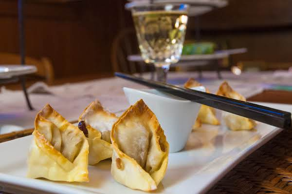 Awesome Low Fat Baked Pork & Apple Wontons Recipe