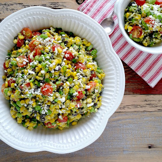 Edamame & Black Bean Salad with Corn & Creamy Guacamole