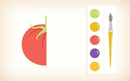 Learn fruits, vegetables game - náhled