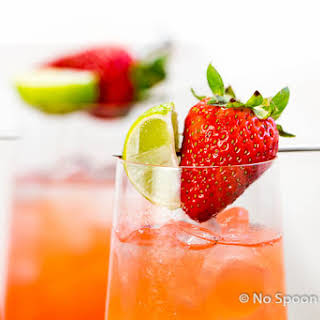 Strawberry Key-Limeade Cocktail.