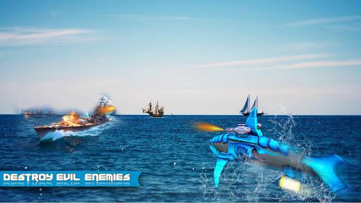 Futuristic Robot Dolphin City Battle - Robot Game apkpoly screenshots 3