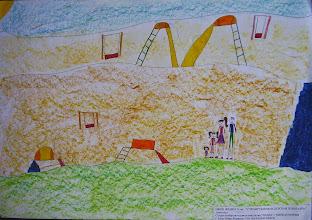 Photo: Фраим Офри. 8 лет. Строится новая детская площадка. Студ. Натальи Ланге. Израиль. г. Беэр-Шева