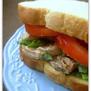 Barbecue Chicken Salad Sandwiches.