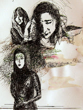 """Photo: 'Secrets, 20.5cm x 25.5cm, 8""""x10"""", India inks, archival pen inks, graphite, coffee spill, uploaded January 11, 2011 - a doodle, though I did make a stop and start voice recording as I was writing the words (you can hear the pen scratching on paper in some of it). I'll see about hosting the recording somewhere, and transcribing it I guess. I don't think this piece is finished yet, though maybe it is."""