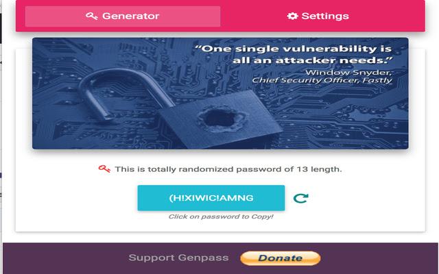 GenPass: Strong Password Generator