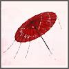 宝玉傘-朱