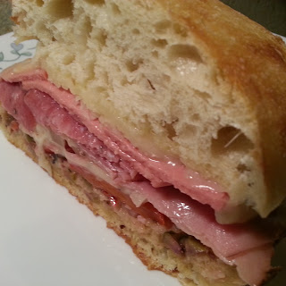 Baked Muffuleta Stromboli Sandwich