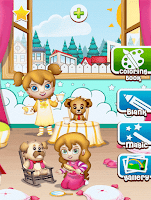 Screenshot of Coloring pages: Model dress up
