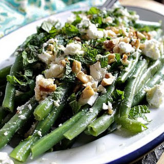 Green Beans with Walnuts and Feta.