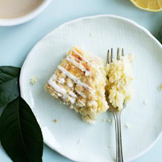 Triple Lemon Streusel Cake