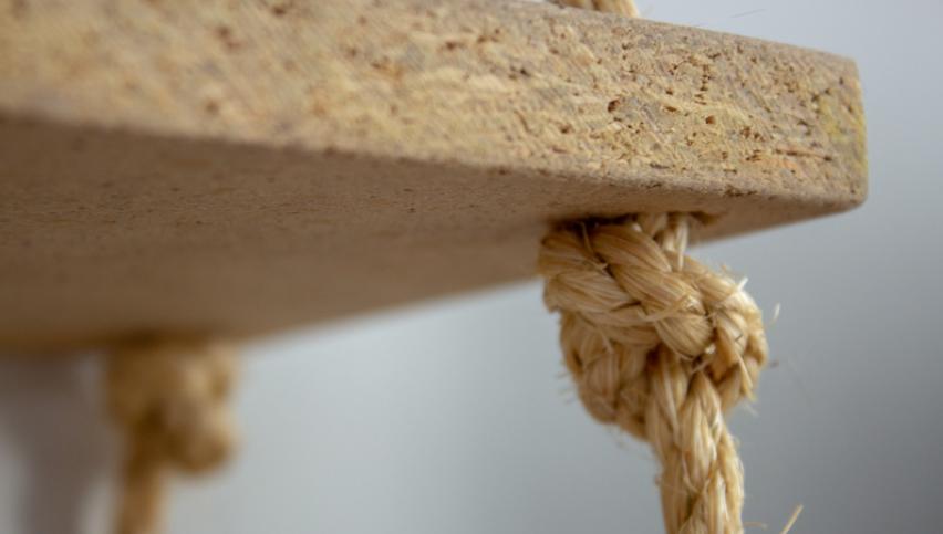 uso da corda sisal na decoração com prateleiras