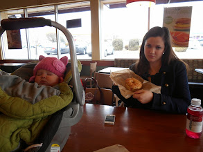 Photo: 2/8 - Lunch. Julie was craving a bagel. So - it was off to Einstein's.