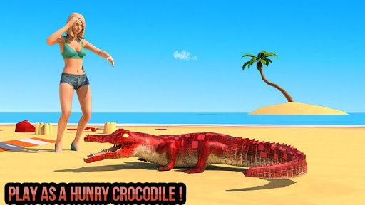 Télécharger gratuit Angry Crocodile 2020 City Attack Simulator APK MOD 1