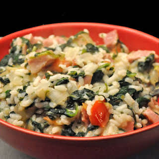 Ham and Spinach Risotto.