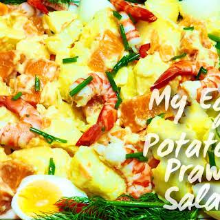 My Egg, Potato & Prawn Salad.