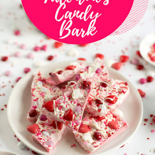 Valentine's Candy Bark with White Chocolate.
