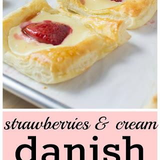 Strawberries & Cream Danish