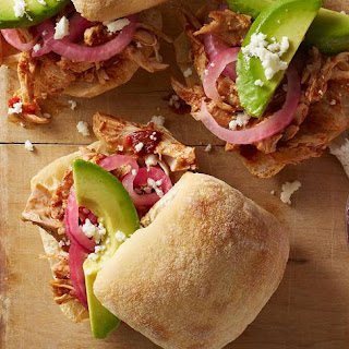 Slow-Cooker Chicken Chipotle Sandwiches