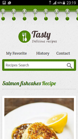 android Free Recipes Screenshot 1