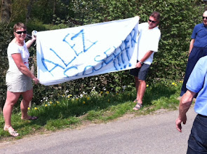 Photo: At the bottom of the Rosier L-B-L supporting our local boy Seb who won the 3 day of de panne