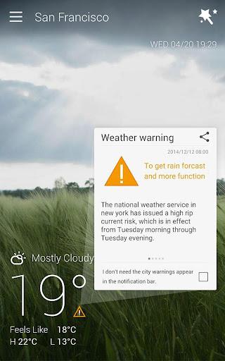 GO Weather Forecast & Widgets screenshot 14