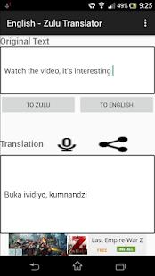English - Zulu Translator - náhled