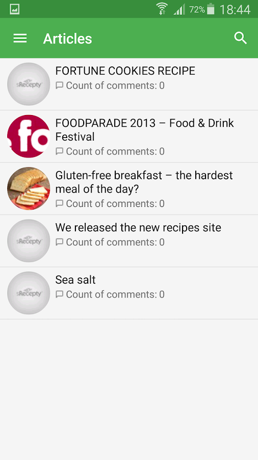 sRecipes - best recipes- screenshot