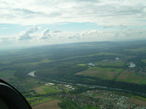 Photo: A nice view of Switzerland and the Rhine winding in direction Basel http://www.swiss-flight.net