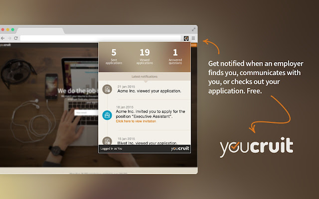 YouCruit Notifications