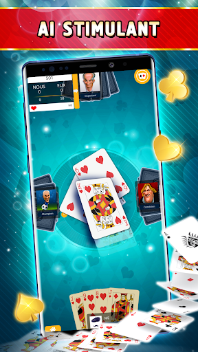 Belote Offline - Single Player Card Game screenshots 2