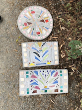 Photo: Mosaic tiles and stained glass by artist Katherine Holzknecht www.khartiste.com
