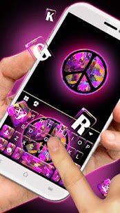 Purple Peace Keyboard Theme - náhled