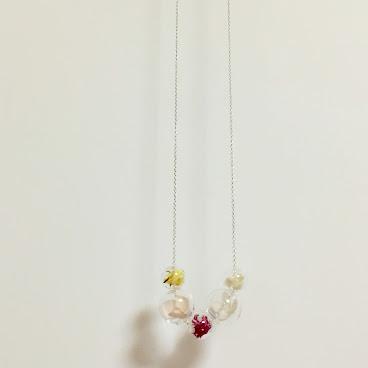 五花相連玻璃球短頸鏈