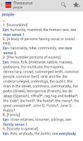 Screenshot of Webster's Thesaurus TR