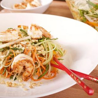 Green Papaya Salad with Grilled Shrimp.