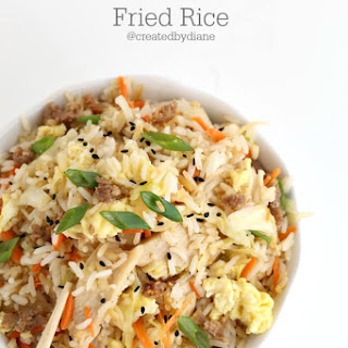Chicken and Sausage Fried Rice.