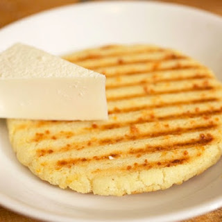 Colombian-style Arepas (Griddled or Grilled Corn Cakes).