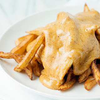 French Fries with Nacho Cheese Sauce.