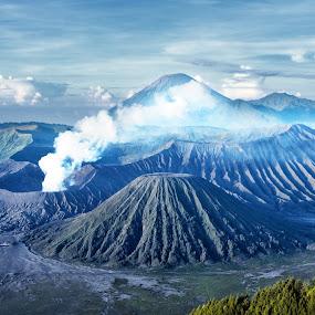 Bromo by Saiful N. Firmansyah - Landscapes Mountains & Hills ( mountain, gunung, tengger, indonesia, east java, landscape photography, landscapes, landscape, semeru, bromo,  )