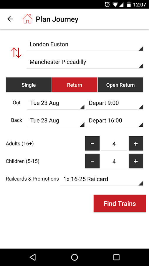 Virgin Trains- screenshot