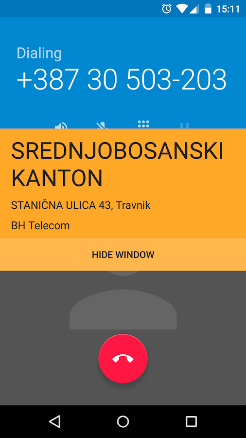 Kontakt Presretač- screenshot