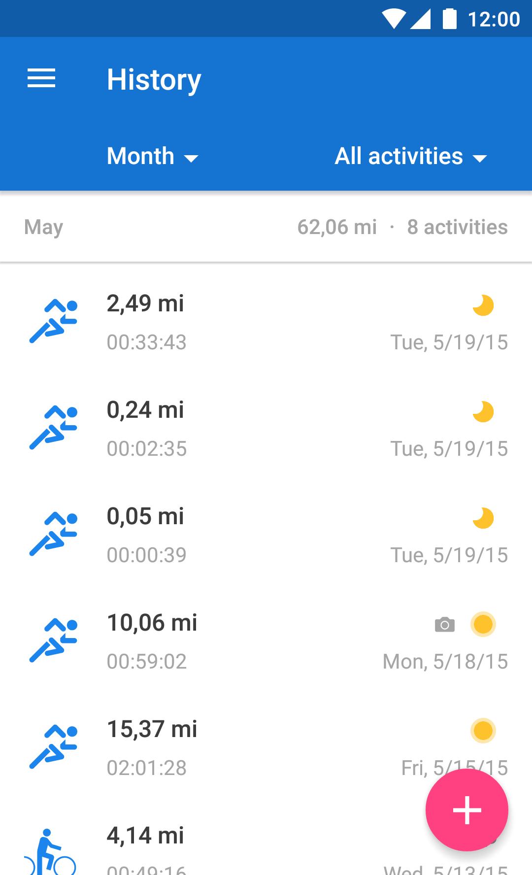 Runtastic Running & Fitness screenshot #3