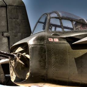 Tail Gunner by Greg Bennett - Transportation Airplanes ( north american aviation, tail gunner, illinois, scott afb, pacific, 1940, world war ii, japan, centennial celebration, bomber, aircraft, b-25, army air corps, air plane )